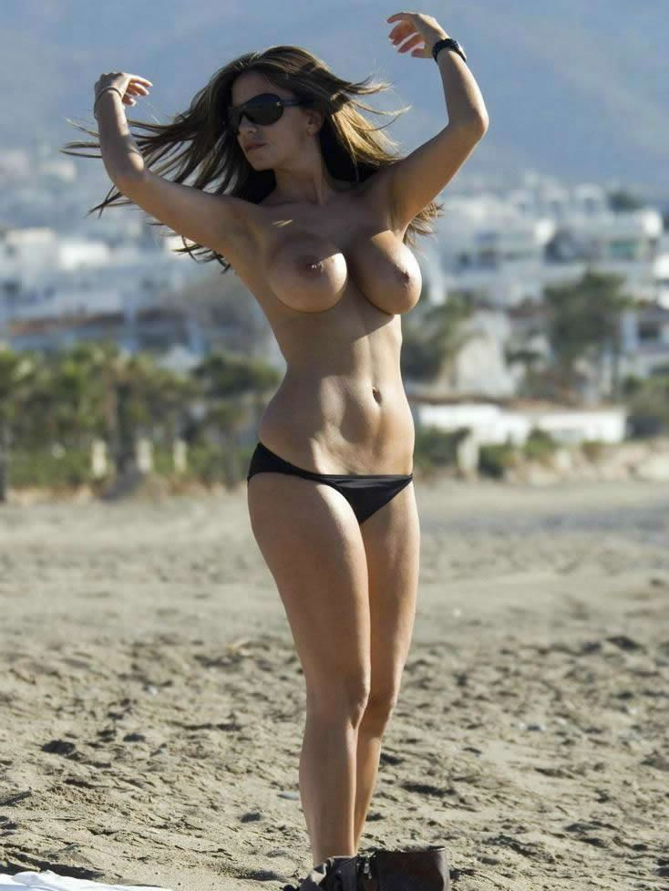 Busty Uk Babe Lucy Becker Topless At The Beach