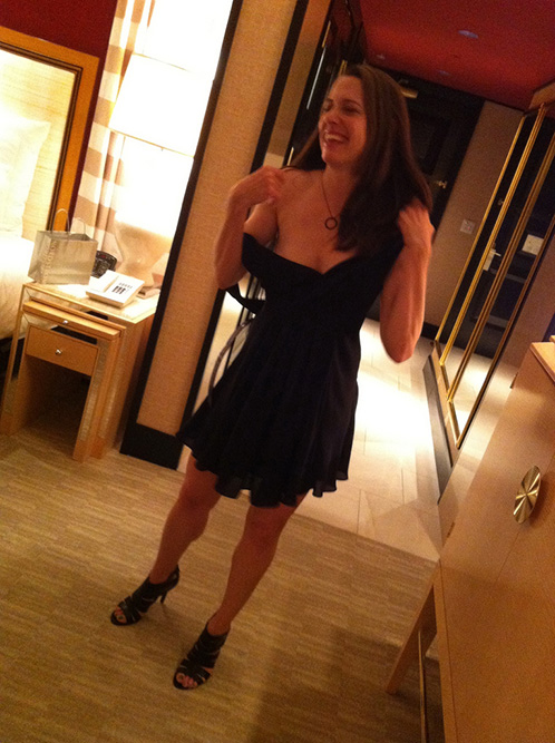 Amateur Cutie in Black Dress