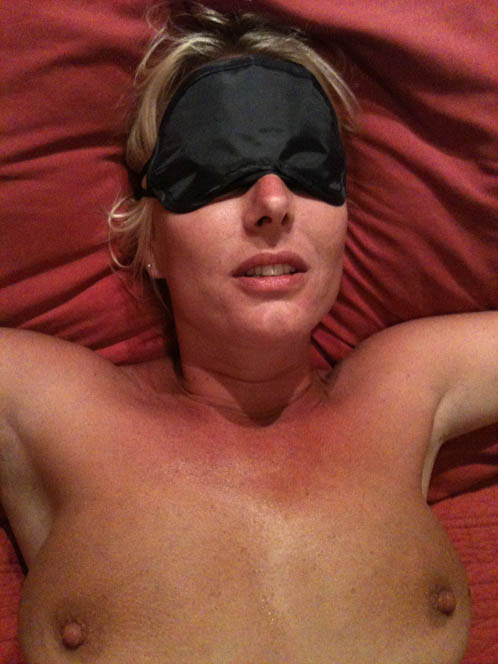 Submissive Wife Tied N Blindfolded In Bed