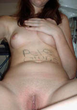 Whore Ex Girlfriend With BodyWriting All Over