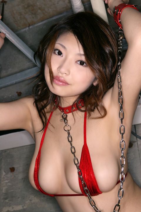 Busty Asian Model Chained In Photoshoot