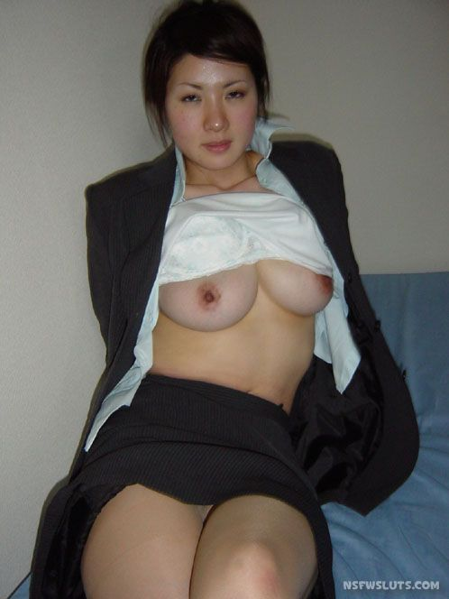 Asian girl flashing tits