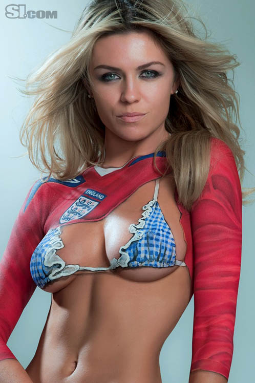 Abbey Clancy Naked Bodypaint Pics From 2010 Sports Illustrated Swimsuit Issue
