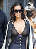 Kim Kardashian Boobs & Nipples Shots 2016