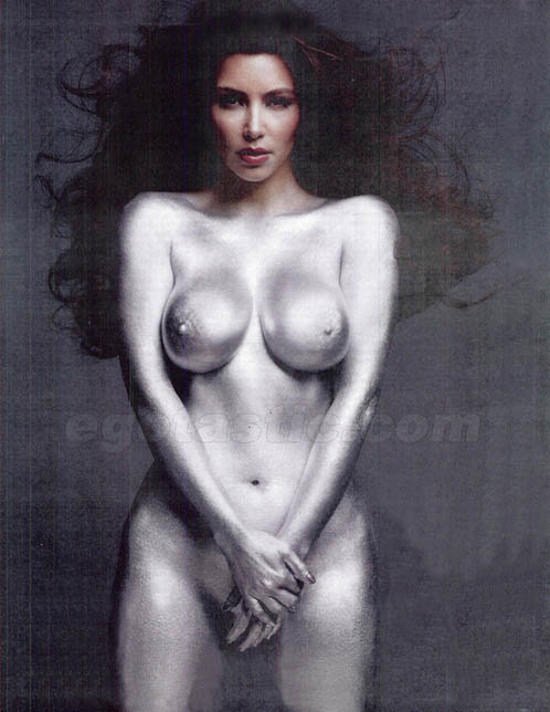 Kim Kardashian Naked Pics in W Magazine's Issue