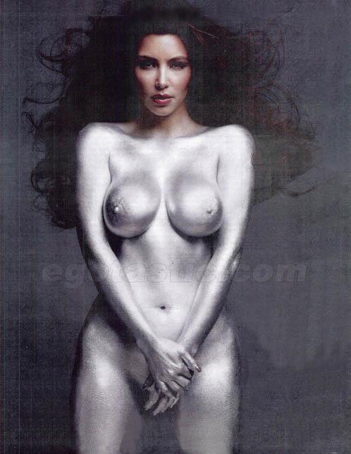 Kim Kardashian Naked Pics in W Magazine's Issue