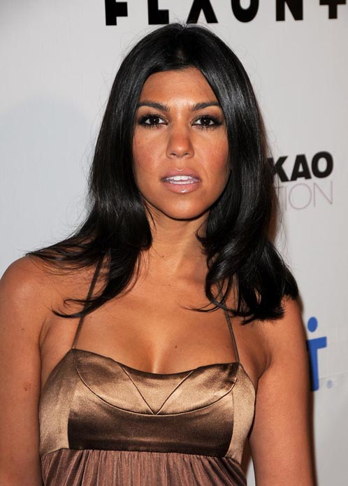 Pictures Of  Kim and Kourtney Kardashian At  Flaunt magazine Party