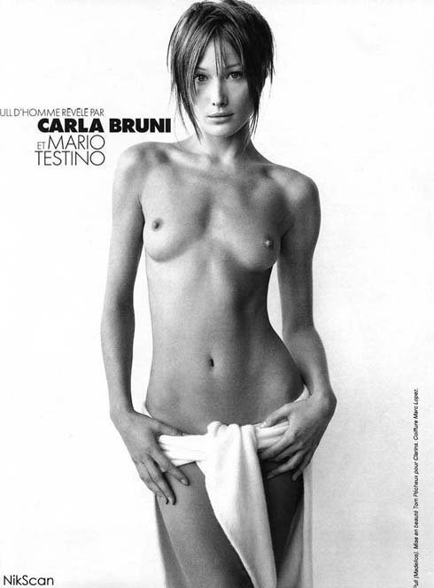Carla Bruni Nude Naked Photos - British Vogue