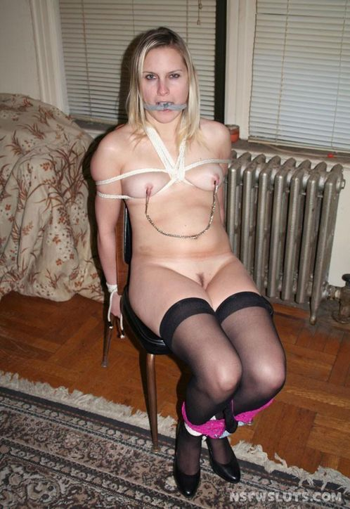 Amateur Bondage Whore Tied N Gagged