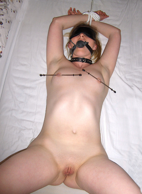 Amateur Naked BDSM Babes Tied N Ball Gagged