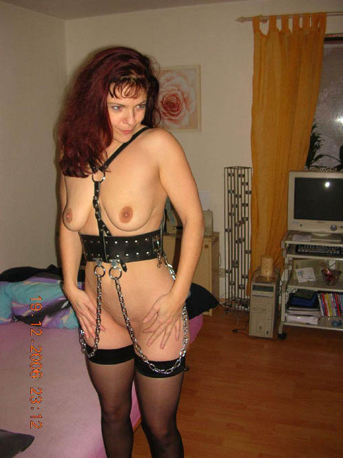 German Submissive Slut Wife Chained