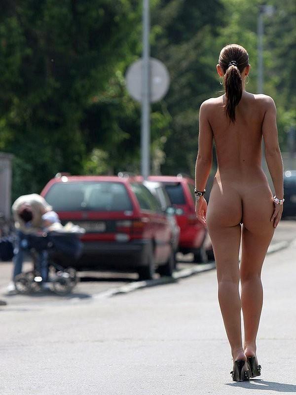 Naken i gatan