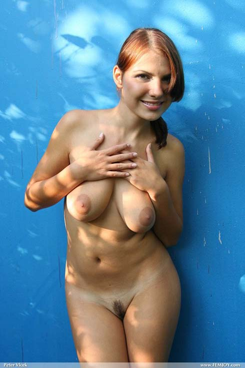 Nude Model with Pink Nipples Posing