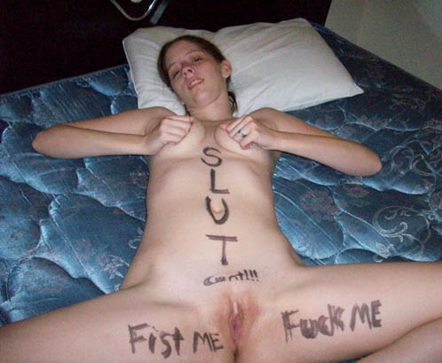 Amateur Bodywriting Sluts Wanna Get Fucked