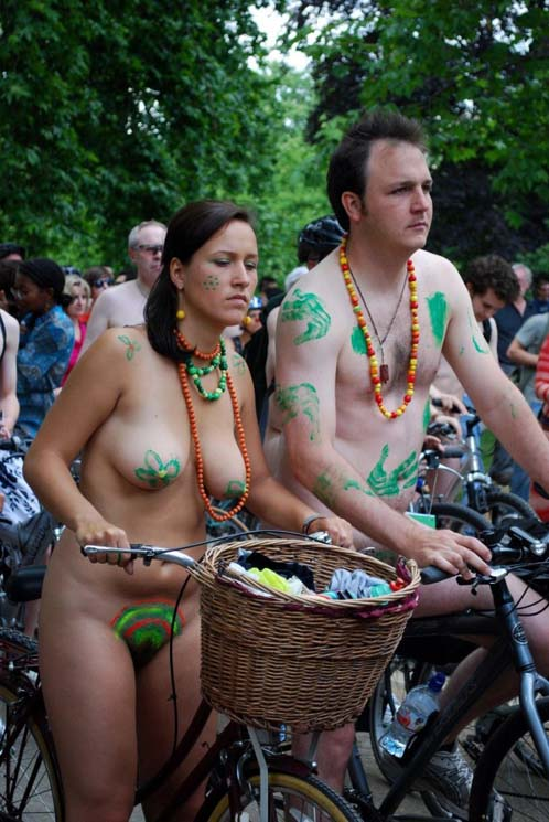 Candid Naked Chicks On Bicycle