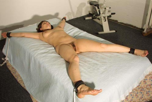 Think, tied nude spread on bed apologise