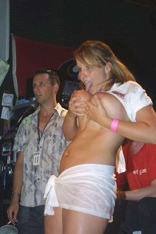 Drunk party strip wet tshirt top porn photos