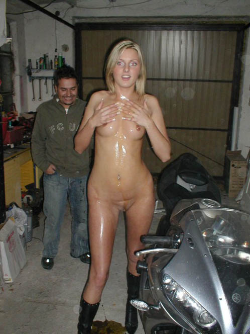 Biker Bitch Strips Naked At Party