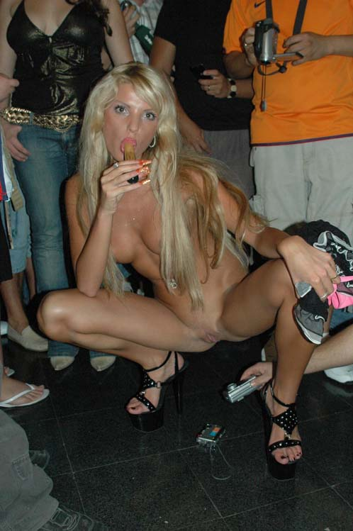 Candid Naked Stripper At Erotic Fest