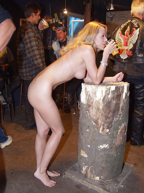 Naked Stripper Standing Nude In Erotic Fest