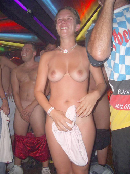 Drunk Naked Party Whores Dancing In Nightclub
