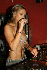 Niki Belucci As Topless DJ In Night Club