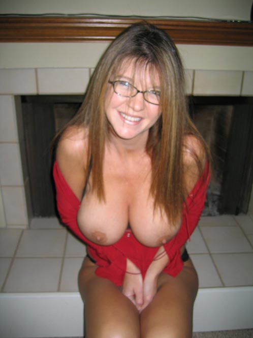 Busty glasses mature